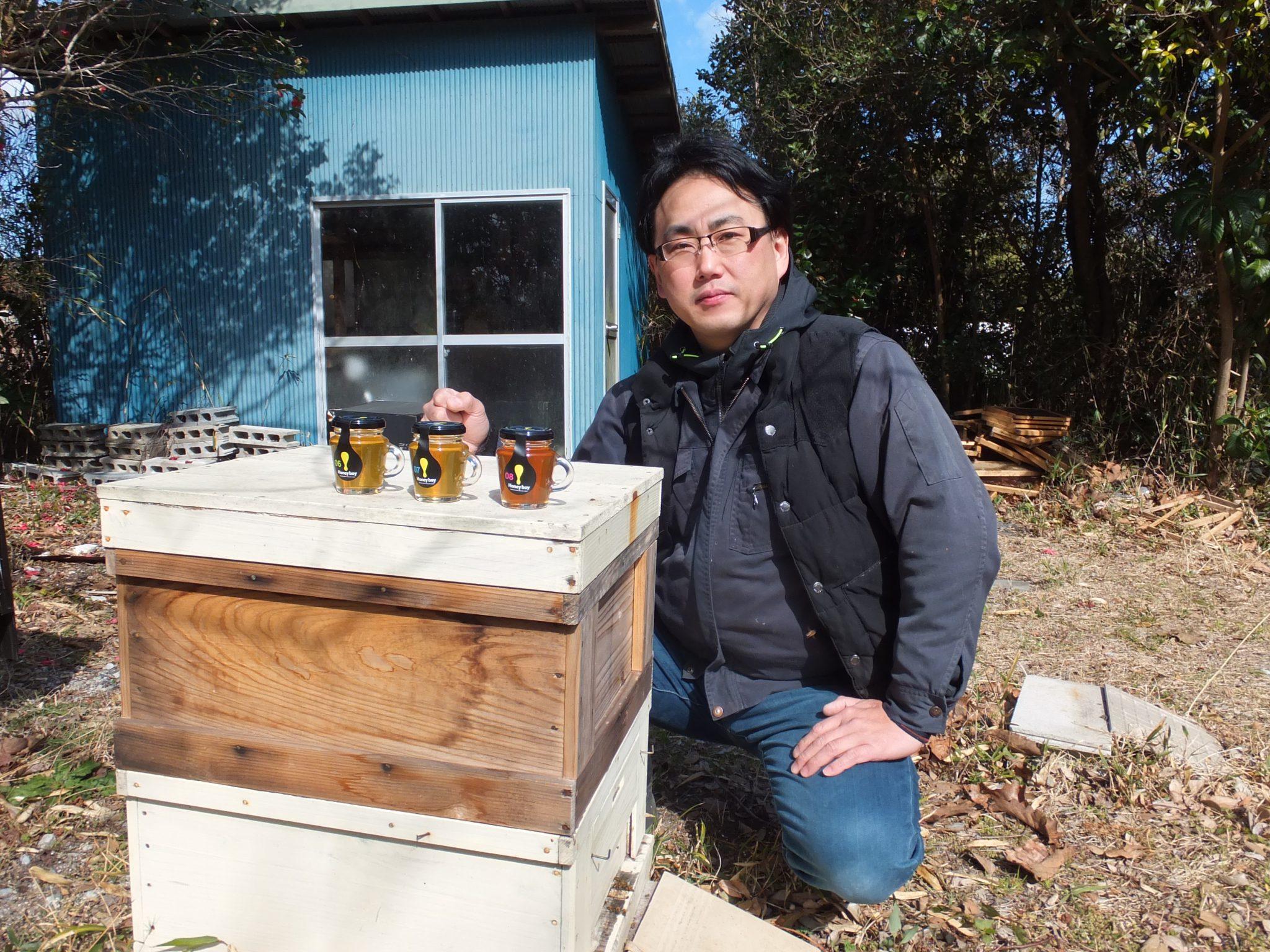牧之原市で季節の花から採取 地元産蜂蜜を多くの人へ 河村充さん